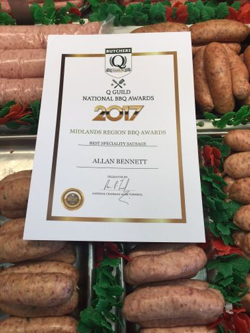 Q Guild National BBQ Awards 2017 - Best Speciality Sausage