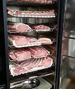 bacon in a fridge